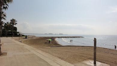 Photo: Beach at St Carles de la Rapita, looking north towards Deltebre