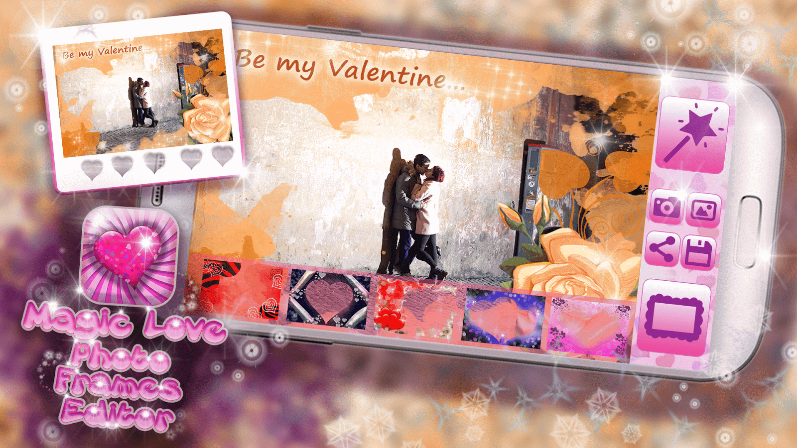 magic love photo frames editor screenshot