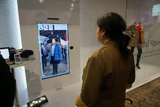 Photo: A virtual mirror shows you wearing the clothes you are considering buying