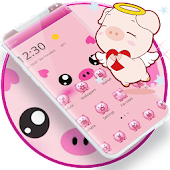 Pink Cute Piggy Cartoon Theme