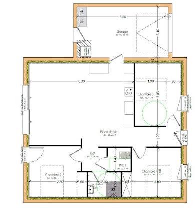 Vente maison 4 pièces 73,71 m2