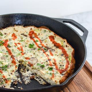 Leek Mushroom Egg White Frittata.