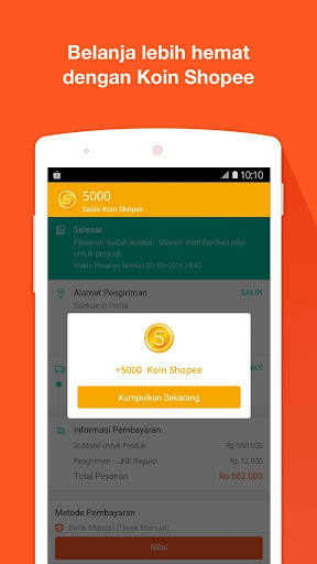 Shopee: Jual Beli di Ponsel app (apk) free download for Android/PC/Windows screenshot