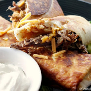 Crock-Pot Shredded Beef Chimichangas Recipe