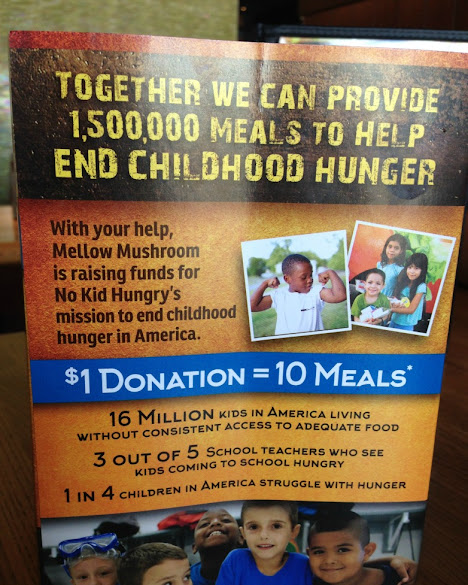 Mellow Mushroom is proud to help raise funds for No Kid Hungry