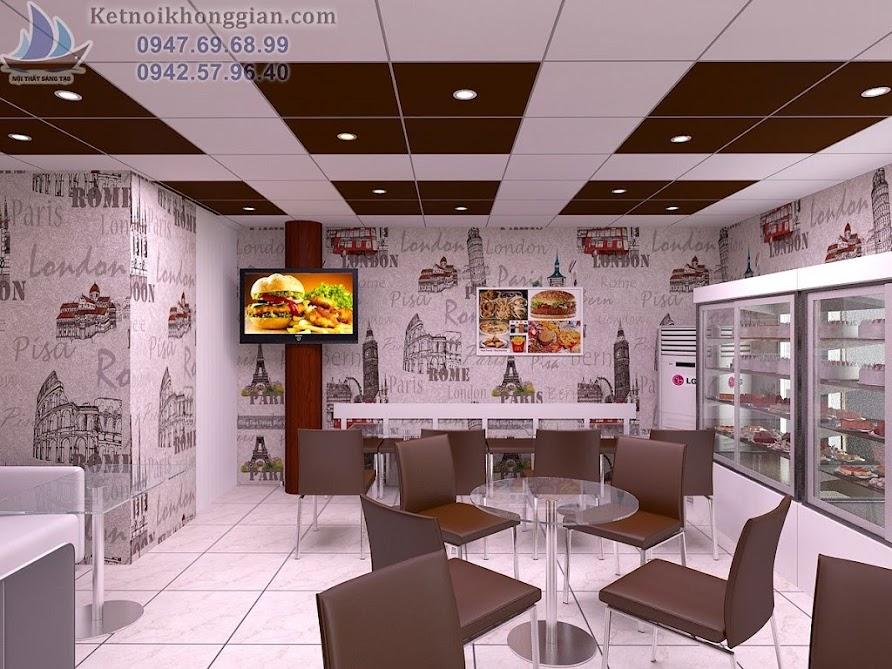 thiết kế cửa hàng bánh kem ngọt