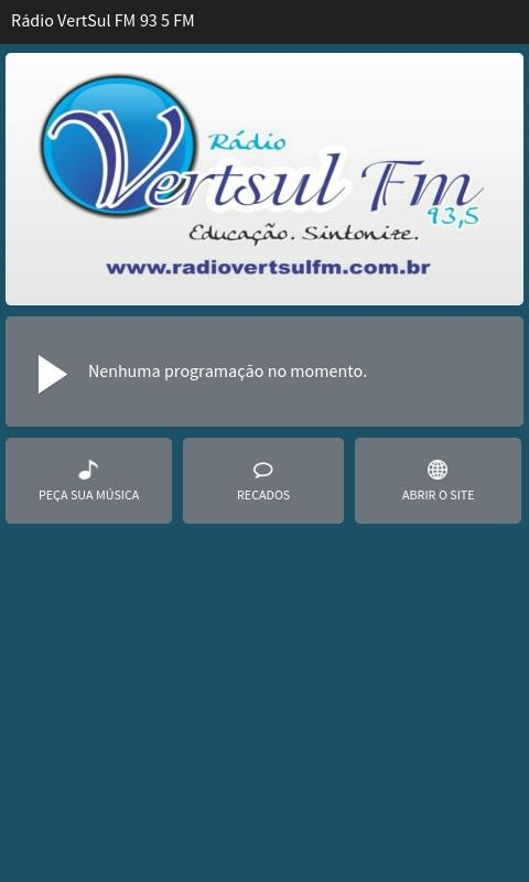 Rádio VertSul FM 93 5 FM- screenshot