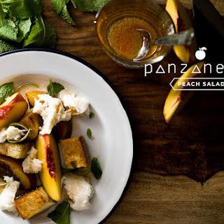 Peach Panzanella Salad with Mozzarella and Mint