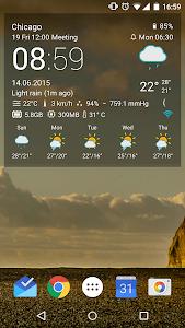 Transparent clock & weather v0.86.01.07
