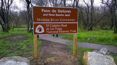 Photo: Paso de Dolores entrance, el Camino Real - Medina greenway lat. 29.2458, long. -98.5519