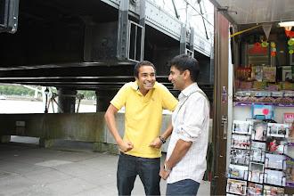Photo: zeeshan coaching feraz on what to do.