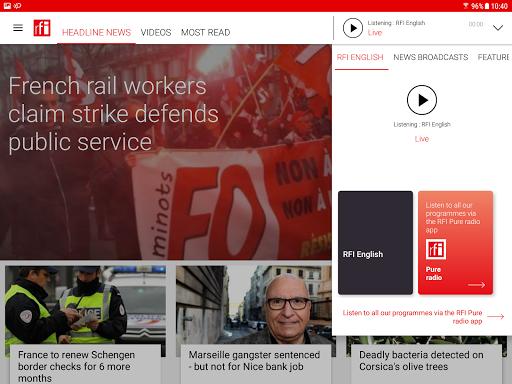 RFI - Radio France Internationale,  live news 3.3.9 Screenshots 5
