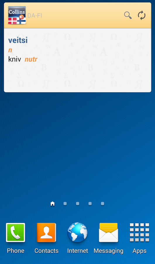 Danish-Finnish Dictionary TR- screenshot
