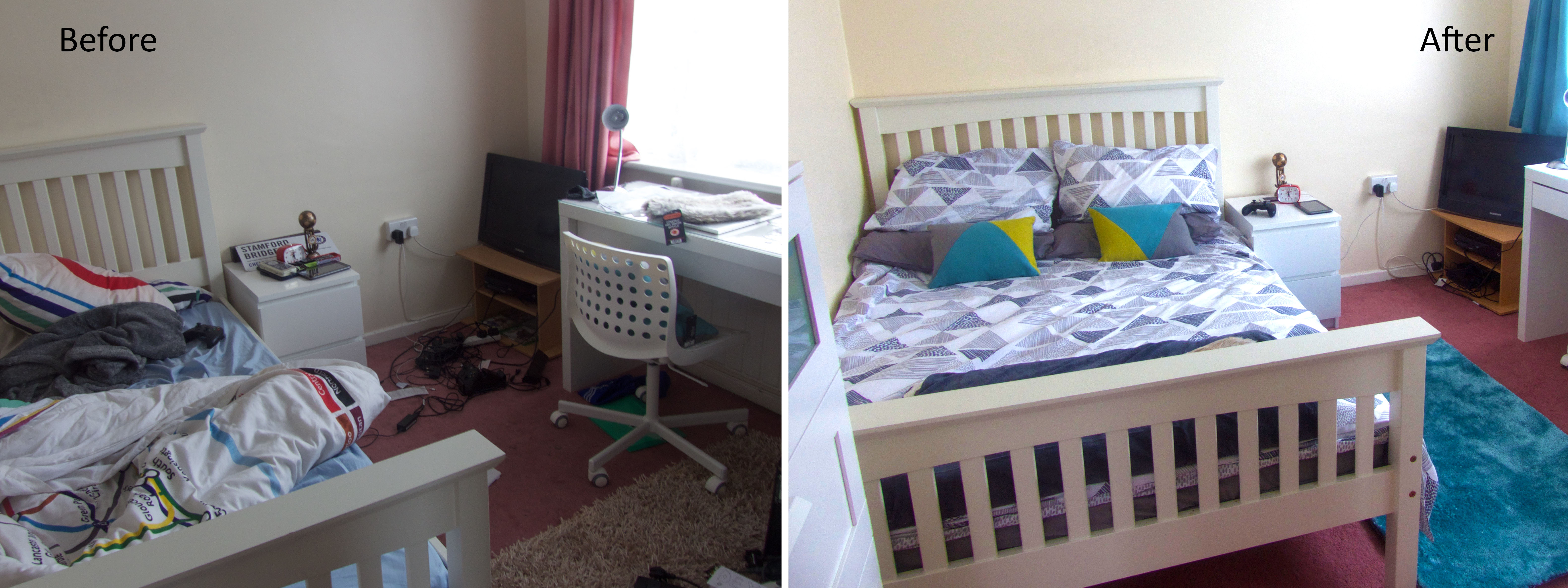 overall before and after bedroom