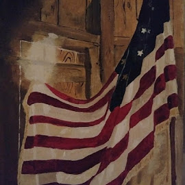 Old Glory by Robin Smith - Painting All Painting ( flag, patriotic, acrylic;,  )