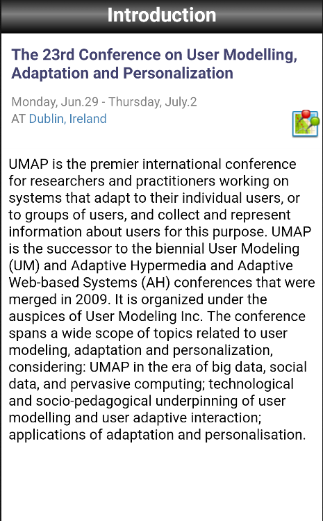 UMAP 2015- screenshot