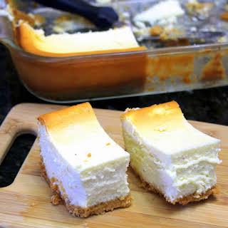 EggNog Cheesecake Bars.