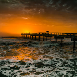 Sunrise St. Augustine by David Long - Landscapes Waterscapes