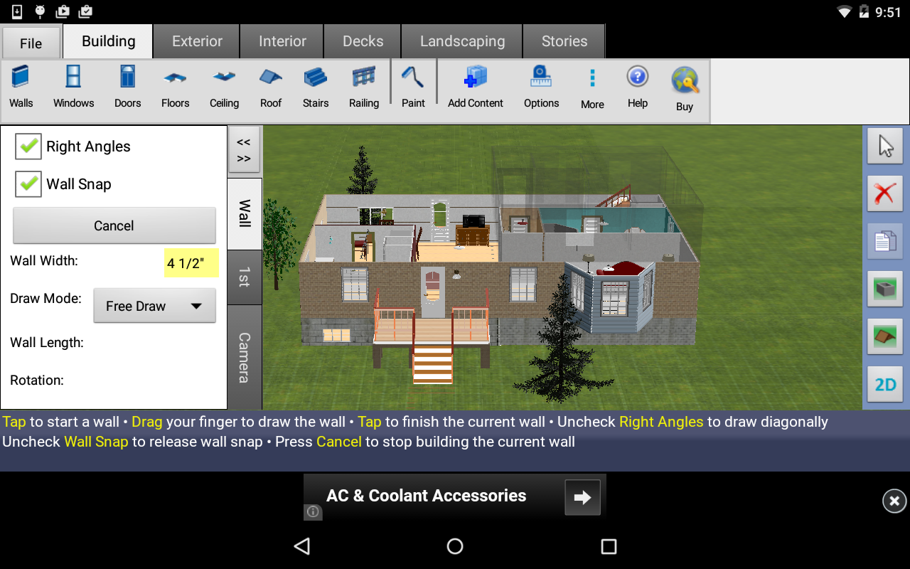 DreamPlan Home Design Free Screenshot