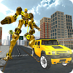 Hummer Transform Robot Fight Icon