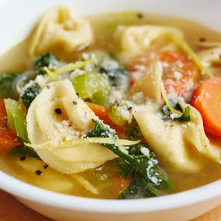 Lemony Tortellini Spinach Soup.