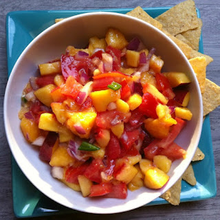 Fresh Peach, Mango and Nectarine Salsa.