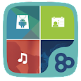 Color Box GO Live Theme (Blue) icon
