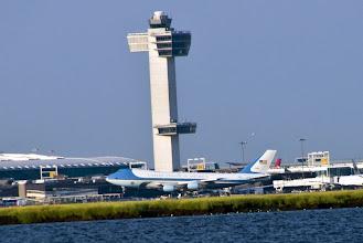 Photo: Air Force One landing at JFK Airport.