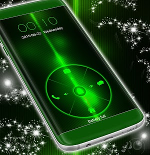 Neon Green Locker Téma - náhled