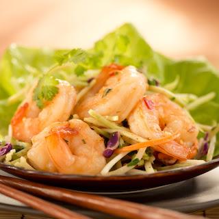 Asian Shrimp in Lettuce Wraps.