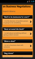 screenshot of Idioms & Phrases with Meaning!