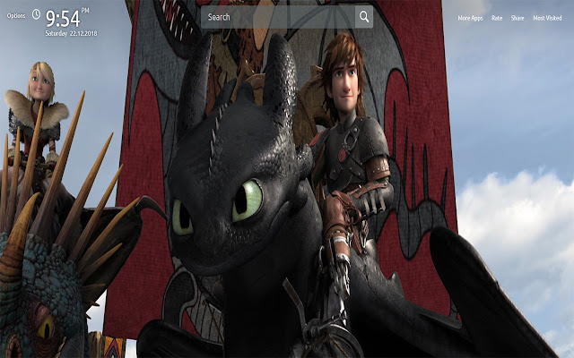 Dragon 2 Wallpapers Theme New Tab