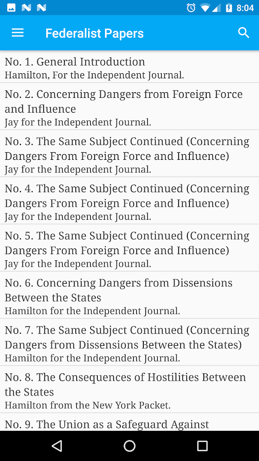 the federalist papers android apps on google play the federalist papers screenshot