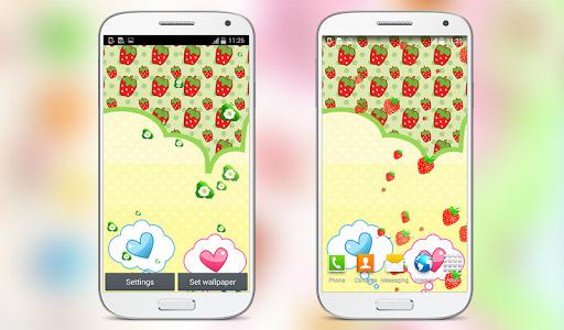 Cute Strawberry Live Wallpaper for PC