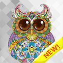 Mandala book paint pages - Adult color by number icon