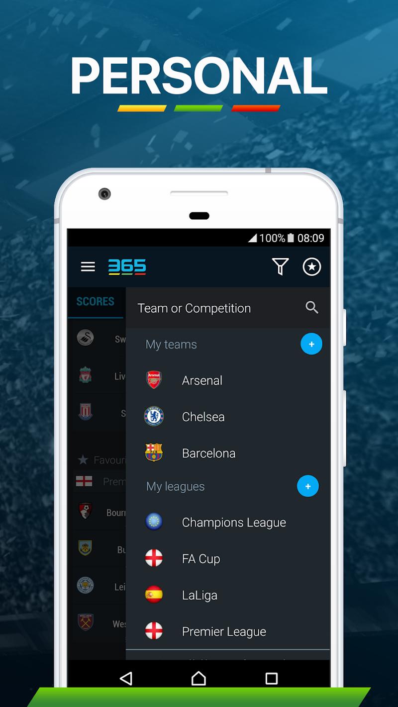 365Scores - Live Sports Score, News & Highlights Screenshot 6