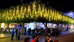 Iluminación ubicada en la Plaza Vieja de la capital durante la pasada Navidad