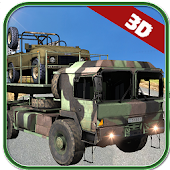 Army Cargo Trucks Parking 3D