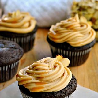 Salted Caramel Chocolate Cupcakes.