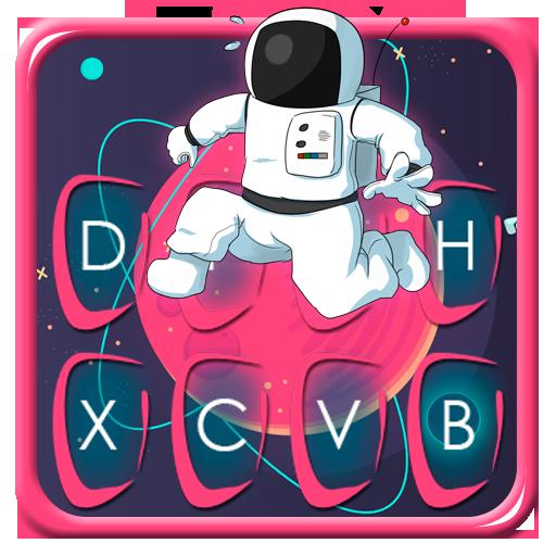 Cartoon Space Astro Keyboard Theme Icon