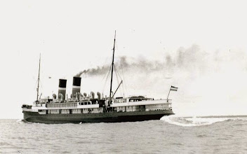 """Photo: """"Mecklenburg"""" en route from Harwich to Vlissingen, about 1935 (Photo: A.M.S. Russell)"""