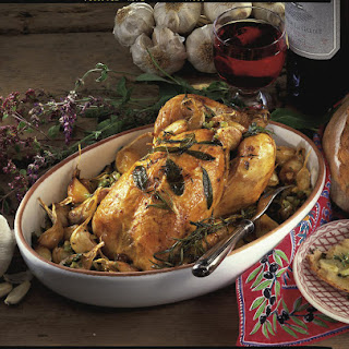 Roasted Chicken with Fresh Herbs and Garlic