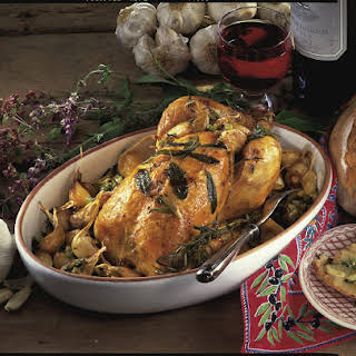 Roasted Chicken with Fresh Herbs and Garlic.