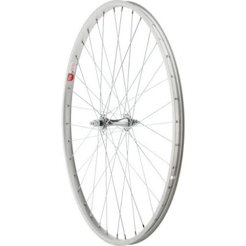 Sta-Tru Front Wheel 26 1 3/8 inch Silver Alloy Rim with Bolt-on Axle 36h