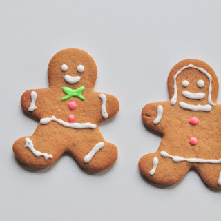 Gingerbread Man, Woman, Snowflake and Stars