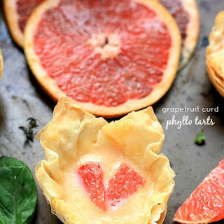 Grapefruit Curd Phyllo Tarts.