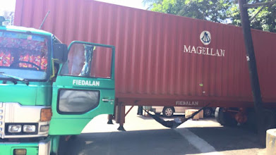 Photo: Our container in the Phippines