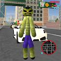 Green Monster Stickman Rope Hero Gangstar Crime icon