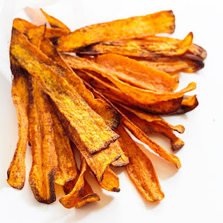 Carrot Chips with Honey 'Yogurt' Dip.