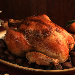 Roasted Capon with Citrus-Sherry Jus.